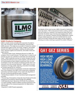 ILMO named to 2015 Watch List for Industrial Distributors